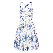 Buy Louche Floral Print Dress, Blue/White Online at johnlewis.com