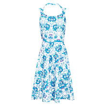 Buy Louche Floral Print Dress, Blue Online at johnlewis.com