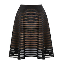 Buy Somerset by Alice Temperley Ribbon Mesh Skirt, Black Online at johnlewis.com