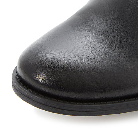 Buy Dune Paddles Leather Chelsea Ankle Boots, Black Online at johnlewis.com