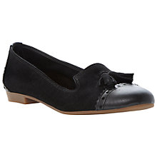 Buy Dune Lucille Suede Loafers, Black Online at johnlewis.com