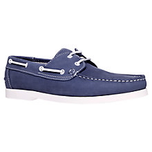 Buy KG by Kurt Geiger Cowes Leather Deck Shoes, Blue Online at johnlewis.com