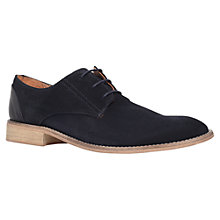 Buy KG by Kurt Geiger Canning Suede Derby Shoes, Navy Online at johnlewis.com