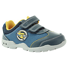 Buy Clarks Childrens' Brite Wing Trainers, Blue/Yellow Online at johnlewis.com