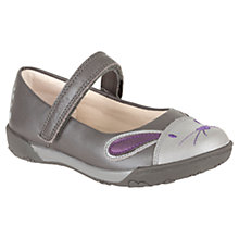Buy Clarks Nibbles Bunny Shoes, Grey Online at johnlewis.com