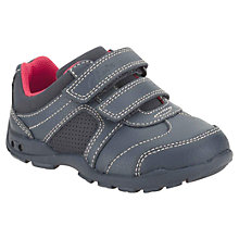 Buy Clarks Childrens' Flash Fun Shoes, Navy Online at johnlewis.com