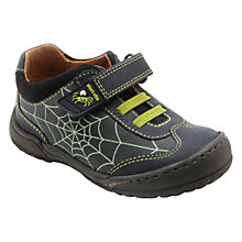 Buy Start-rite Incy Spider Leather Shoes, Navy Online at johnlewis.com