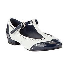 Buy John Lewis Childrens' Louisa Monochrome Brogues, Navy/White Online at johnlewis.com