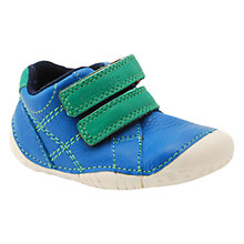 Buy Start-rite Baby Milan Leather Double Strap Shoes, Blue/Green Online at johnlewis.com