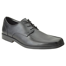 Buy Clarks Hoxton Chap Leather Shoes, Black Online at johnlewis.com