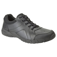 Buy Clarks Children's Air Norfolk Shoes, Black Online at johnlewis.com