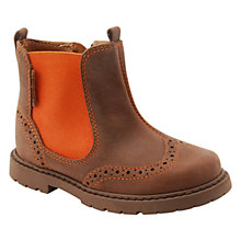 Buy Start-rite Digby Leather Chelsea Boots, Brown/Orange Online at johnlewis.com