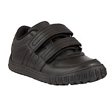 Buy John Lewis Double Rip-Tape Leather Shoes, Black Online at johnlewis.com