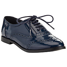 Buy John Lewis Girl Patent Brogue Shoes, Navy Online at johnlewis.com
