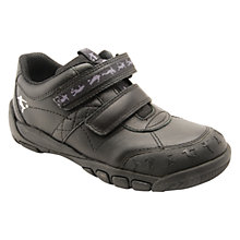 Buy Start-rite Hat-Trick Rip-Tape Leather Shoes, Black Online at johnlewis.com