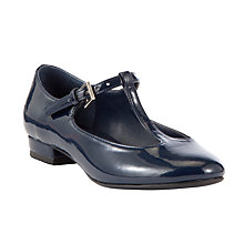 Buy John Lewis Childrens' Phoebe T-Bar Pump Shoes, Navy Online at johnlewis.com