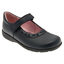 Buy Start-rite Scissor Leather Mary Jane School Shoes, Black Online at johnlewis.com