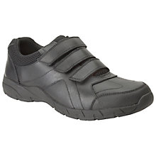 Buy Clarks Air Suffolk Leather Shoes, Black Online at johnlewis.com