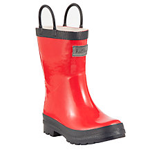 Buy Hatley Contrast Pull-On Wellington Boots, Red/Navy Online at johnlewis.com