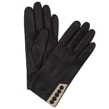 Buy John Lewis Five Button Leather Gloves Online at johnlewis.com
