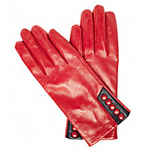 Buy John Lewis 5 Buttons Gloves, Red Online at johnlewis.com