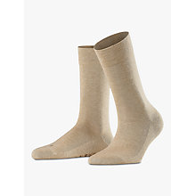 Buy Falke London Cotton Blend Ankle Socks, Sand Online at johnlewis.com