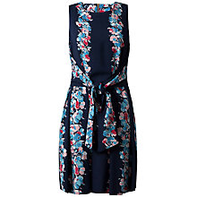 Buy Closet Floral Tie Front Dress, Blue Online at johnlewis.com