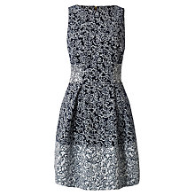Buy Almari Jacquard Contrast Dress, Navy Online at johnlewis.com