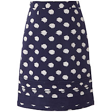 Buy White Stuff Spot Ikat Skirt, Onyx Blue Online at johnlewis.com