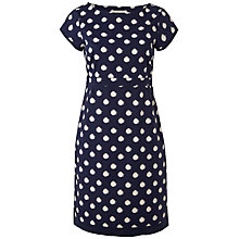 Buy White Stuff Spotty Poplin Dress, Onyx Blue Online at johnlewis.com