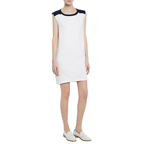 Buy Mango Monochrome Stretch Dress, Natural White Online at johnlewis.com