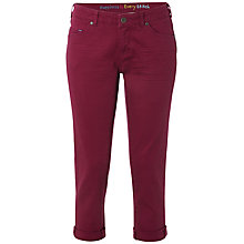 Buy White Stuff Southern Ocean Cropped Trousers, Dark Magenta Online at johnlewis.com