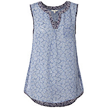 Buy White Stuff Yukata Printed Vest, China Blue Online at johnlewis.com