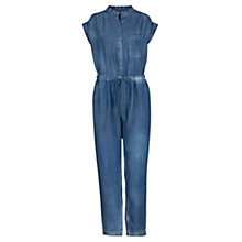 Buy Mango Tencel Long Jumpsuit, Medium Blue Online at johnlewis.com