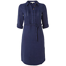 Buy White Stuff Urban Zen Linen Shirt Dress, Onyx Blue Online at johnlewis.com