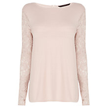 Buy Coast Olivier Knit Top, Blush Online at johnlewis.com