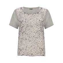 Buy Jigsaw Grey Lily Haze Sweater, Pale Grey Online at johnlewis.com
