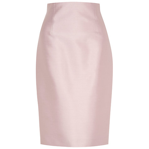Buy Hobbs Invitation Collette Skirt, Light Pink Online at johnlewis.com