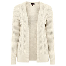 Buy Warehouse Cable Edge To Edge Cardigan, Cream Online at johnlewis.com
