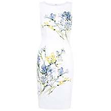 Buy Hobbs Invitation Freesia Dress, White Multi Online at johnlewis.com