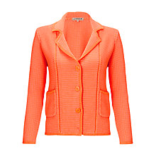Buy Jigsaw Micros Stitch Knitted Jacket, Orange Online at johnlewis.com