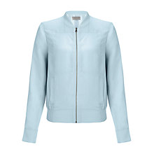 Buy Jigsaw Silk Bomber Jacket Online at johnlewis.com