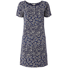 Buy White Stuff Shibori Shift Dress, Onyx Online at johnlewis.com