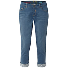 Buy White Stuff Southern Ocean Star Cropped Jeans, Mid Denim Online at johnlewis.com