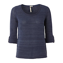 Buy White Stuff Summer Plain Knitted Jumper, Onyx Blue Online at johnlewis.com