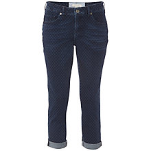 Buy White Stuff Southern Ocean Peppa Print Cropped Jeans, Dark Denim Online at johnlewis.com