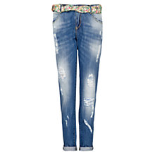 Buy Mango Boyfriend Fit Giselle Jeans, Medium Blue Online at johnlewis.com