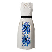 Buy Almari Contrast Bird Print Dress, White Online at johnlewis.com