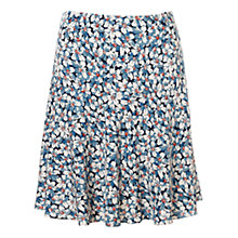Buy Jigsaw Daisy Print Skirt, Blue Online at johnlewis.com