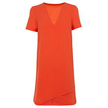 Buy Warehouse Chiffon Insert Crepe Dress, Orange Online at johnlewis.com